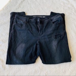 Women's size 18 distressed skinny jeans Black GUC